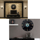 "12"" Retro 3D CD Style Nostalgia Wall Clock Headset"