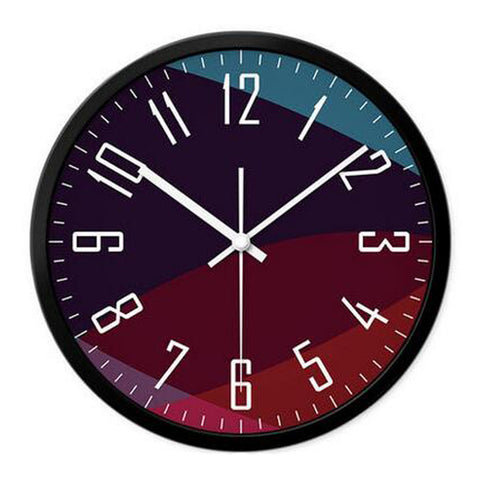Modern & Personality Circular Clock Living Room Decorative Silent Round Wall Clocks, A13