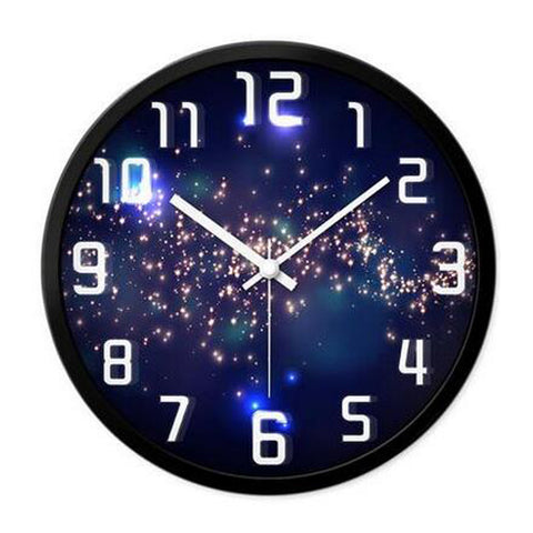 Modern & Personality Circular Clock Living Room Decorative Silent Round Wall Clocks, A16