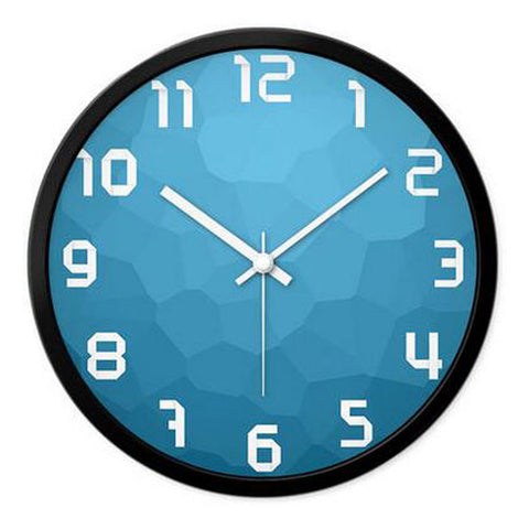 Modern & Personality Circular Clock Living Room Decorative Silent Round Wall Clocks, A19