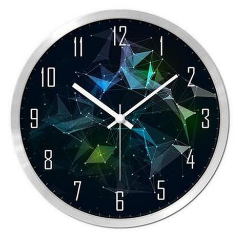 Modern & Personality Circular Clock Living Room Decorative Silent Round Wall Clocks, A30