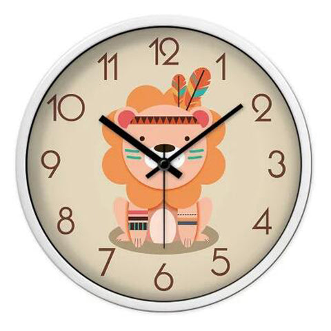 Lovely Cartoon Circular Personality Clock Living Room Decorative Silent Round Wall Clocks, NO.2