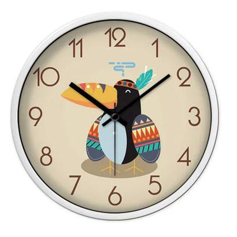 Lovely Cartoon Circular Personality Clock Living Room Decorative Silent Round Wall Clocks, NO.5