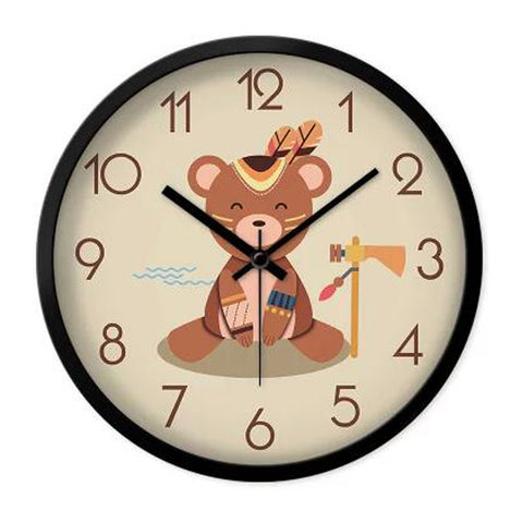 Lovely Cartoon Circular Personality Clock Living Room Decorative Silent Round Wall Clocks, NO.7