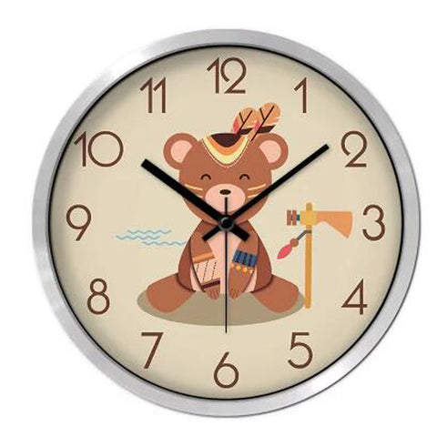 Lovely Cartoon Circular Personality Clock Living Room Decorative Silent Round Wall Clocks, NO.9