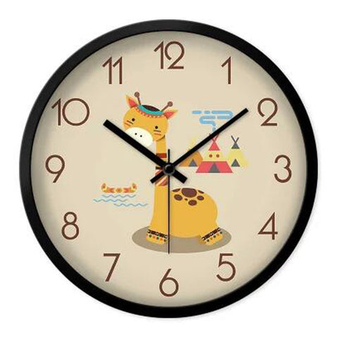 Lovely Cartoon Circular Personality Clock Living Room Decorative Silent Round Wall Clocks, NO.10