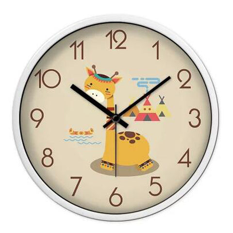 Lovely Cartoon Circular Personality Clock Living Room Decorative Silent Round Wall Clocks, NO.11