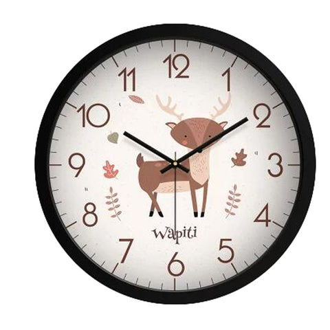 Lovely Cartoon Circular Personality Clock Living Room Decorative Silent Round Wall Clocks, NO.13