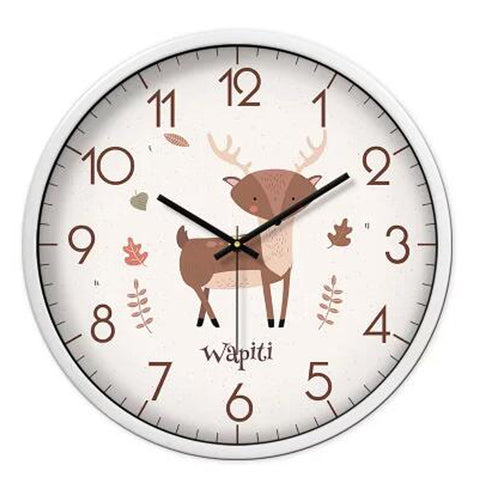 Lovely Cartoon Circular Personality Clock Living Room Decorative Silent Round Wall Clocks, NO.14