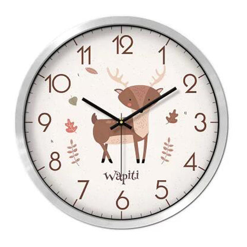 Lovely Cartoon Circular Personality Clock Living Room Decorative Silent Round Wall Clocks, NO.15