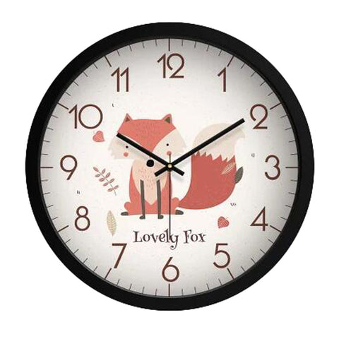 Lovely Cartoon Circular Personality Clock Living Room Decorative Silent Round Wall Clocks, NO.16