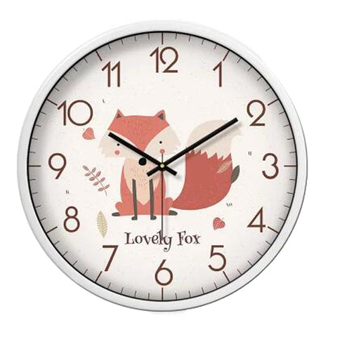 Lovely Cartoon Circular Personality Clock Living Room Decorative Silent Round Wall Clocks, NO.17