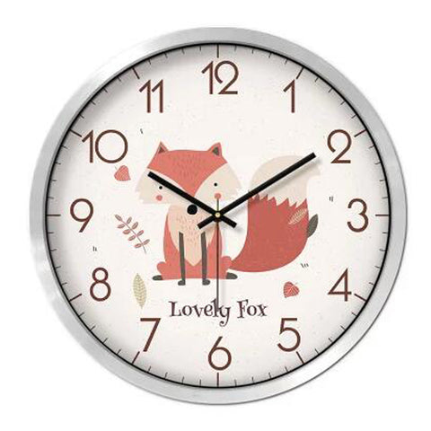 Lovely Cartoon Circular Personality Clock Living Room Decorative Silent Round Wall Clocks, NO.18