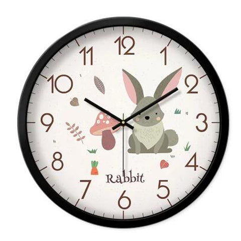 Lovely Cartoon Circular Personality Clock Living Room Decorative Silent Round Wall Clocks, NO.19