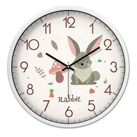 Lovely Cartoon Circular Personality Clock Living Room Decorative Silent Round Wall Clocks, NO.20