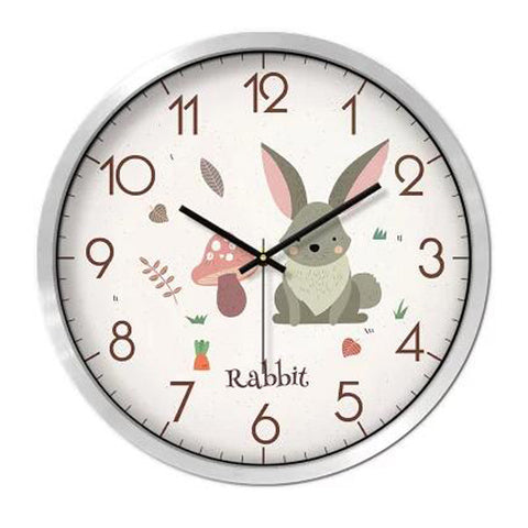 Lovely Cartoon Circular Personality Clock Living Room Decorative Silent Round Wall Clocks, NO.21