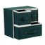 Foldable Drawer-Style Storage Box Organizer Bin Storage Container Green Dot