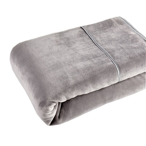 [Flannel Blanket] Grey Lightweight Cozy Plush Microfiber Solid Blanket