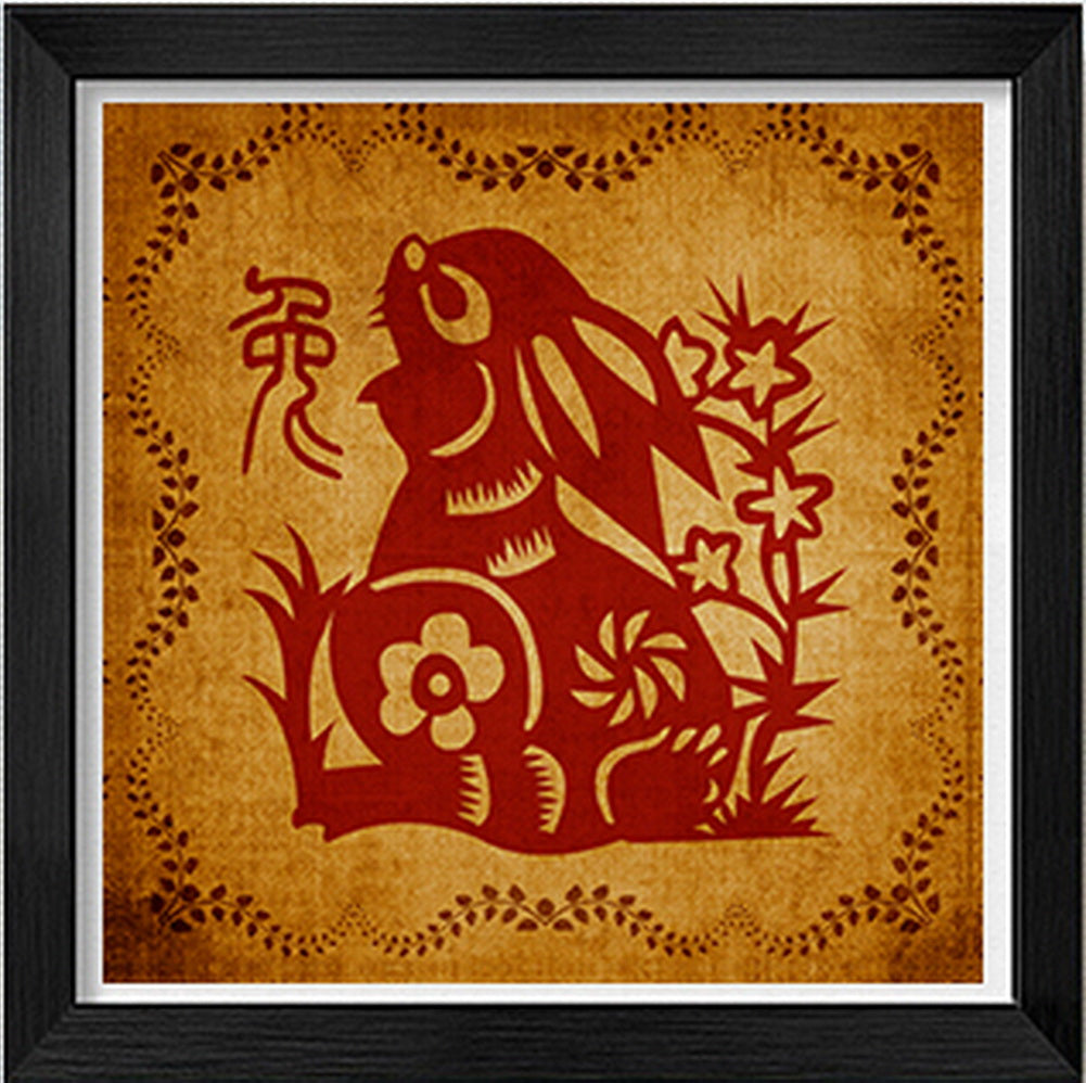 Chinese Traditional Ideas Paper-Cut Adornment Picture(Chinese Zodiac)-Rabbit