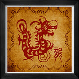 Chinese Traditional Ideas Paper-Cut Adornment Picture(Chinese Zodiac)-Loong