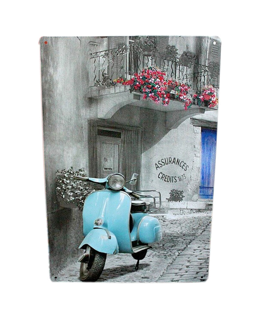 [Trail] Wall Decoration Tin Metal Drawing Vintage Retro Classic Plaque Prints