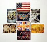 [The Earth] Wall Decor Tin Metal Drawing Vintage Retro Classic Plaque Prints