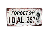 [FORGET] Wall Decor Tin Metal Drawing Old License Number Prints