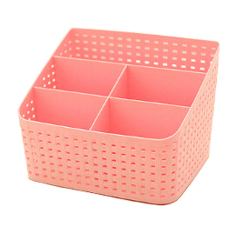 Lovely Practical Storage Basket Storage Container Desktop Receive Container,PINK