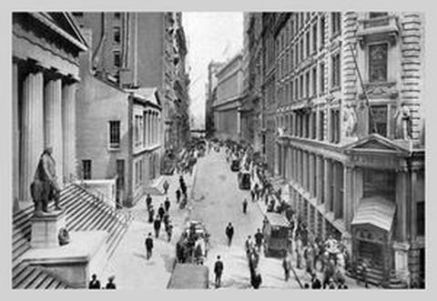 WALL STREET, 1911: FINE ART GICLEE CANVAS PRINT