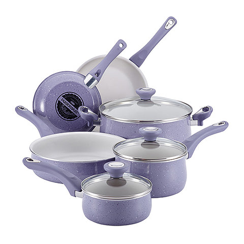 New Traditions 12 Piece Speckled Cookware Lavendar