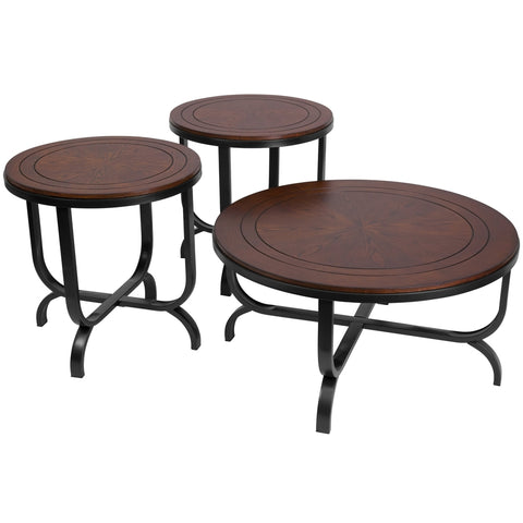Signature Design by Ashley Ferlin - 3 Piece Occasional Table Set