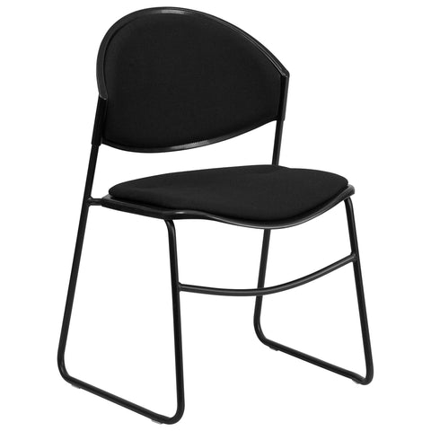 HERCULES Series 550 lb. Padded Black Chair