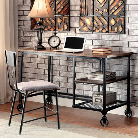 Cori Industrial Design Desk - Antique Black