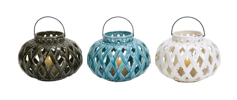 Assorted Ceramic Lanterns (3pc)