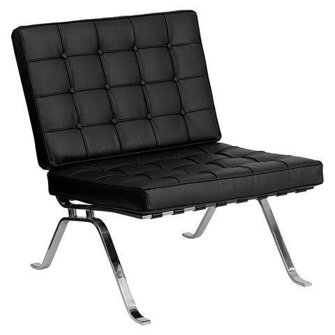 HERCULES Flash Series Black Leather Lounge Chair