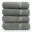 Luxury Hotel & Spa Towel 100% Genuine Turkish Cotton Bath Towels - Gray - Piano - Set of 4