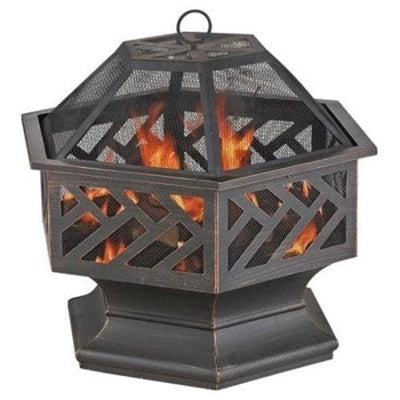 "Outdoor Fire Bowl 24"" Bronze"