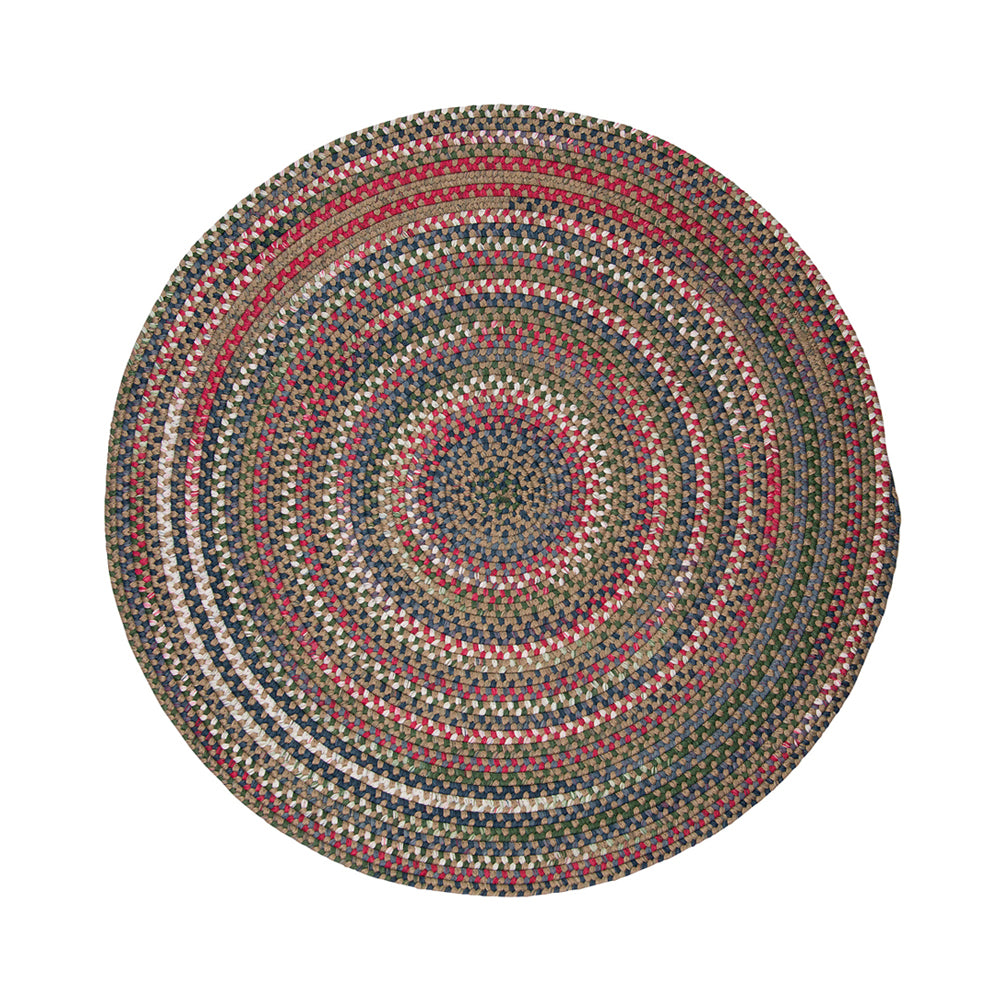 Colonial Mills Chestnut Knoll Straw Beige 4' Round Area Rug