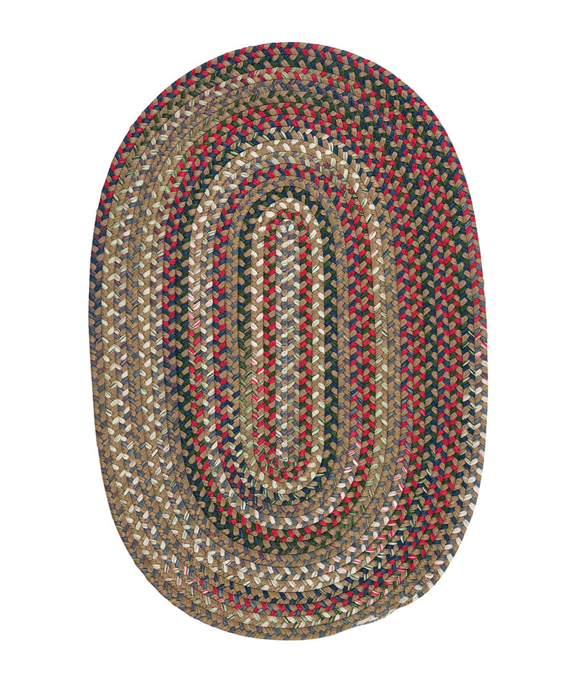 Colonial Mills Chestnut Knoll Straw Beige 12'x15' Oval Area Rug