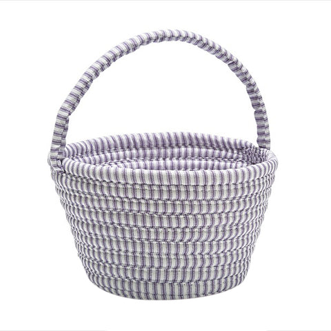 Colonial Mills Easter Home Decorative Ticking Basket Purple - 8x12x7