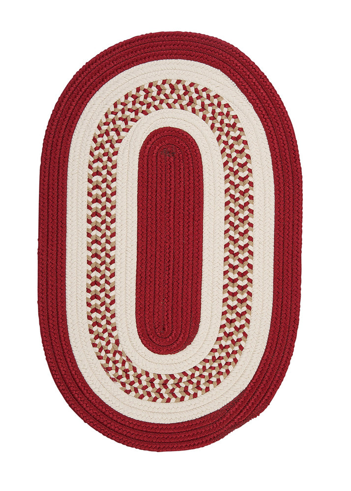 Colonial Mills Flowers Bay Floor Decor Red 2'x3' Oval Rug