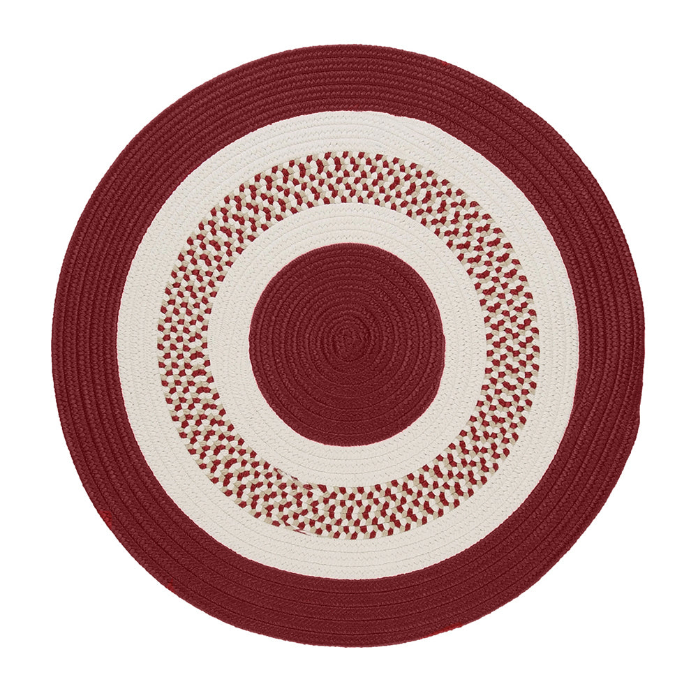 Colonial Mills Flowers Bay Red 10' Round Rug