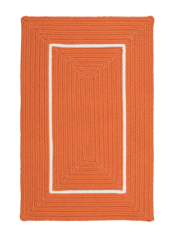 Colonial Mills Floor Decorative Doodle Edge - Orange 3' x 5' Rectangle Rug