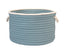 "Colonial Mills Doodle Edge 18""x12"" Home Decorative Storage Basket - Light Blue"