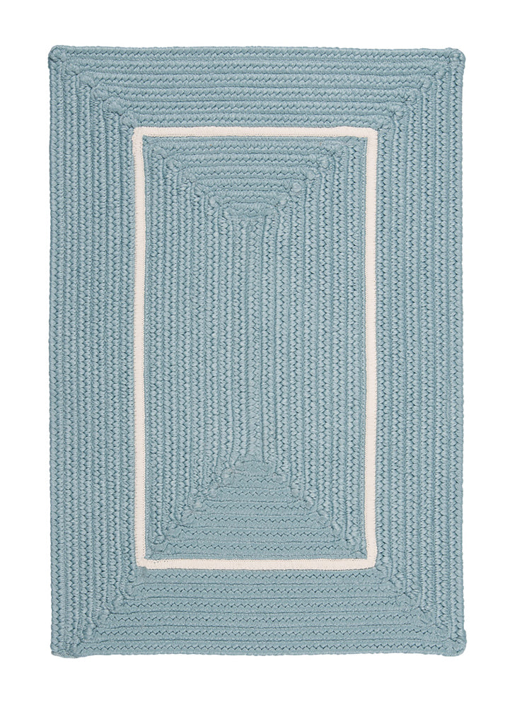Colonial Mills Floor Decorative Doodle Edge - Light Blue 4' x 6' Rectangle Rug