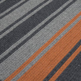Colonial Mills Frazada Stripe Charcoal & Orange 3'x5' Rectangle Rug
