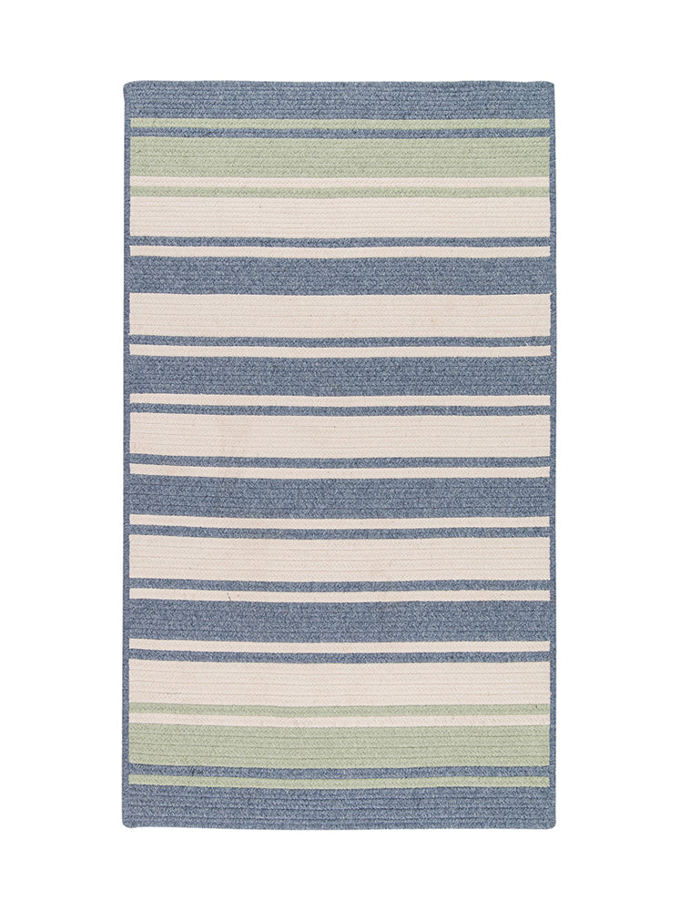 Colonial Mills Frazada Stripe Light Blue & Mint 6'x9' Rectangle Rug