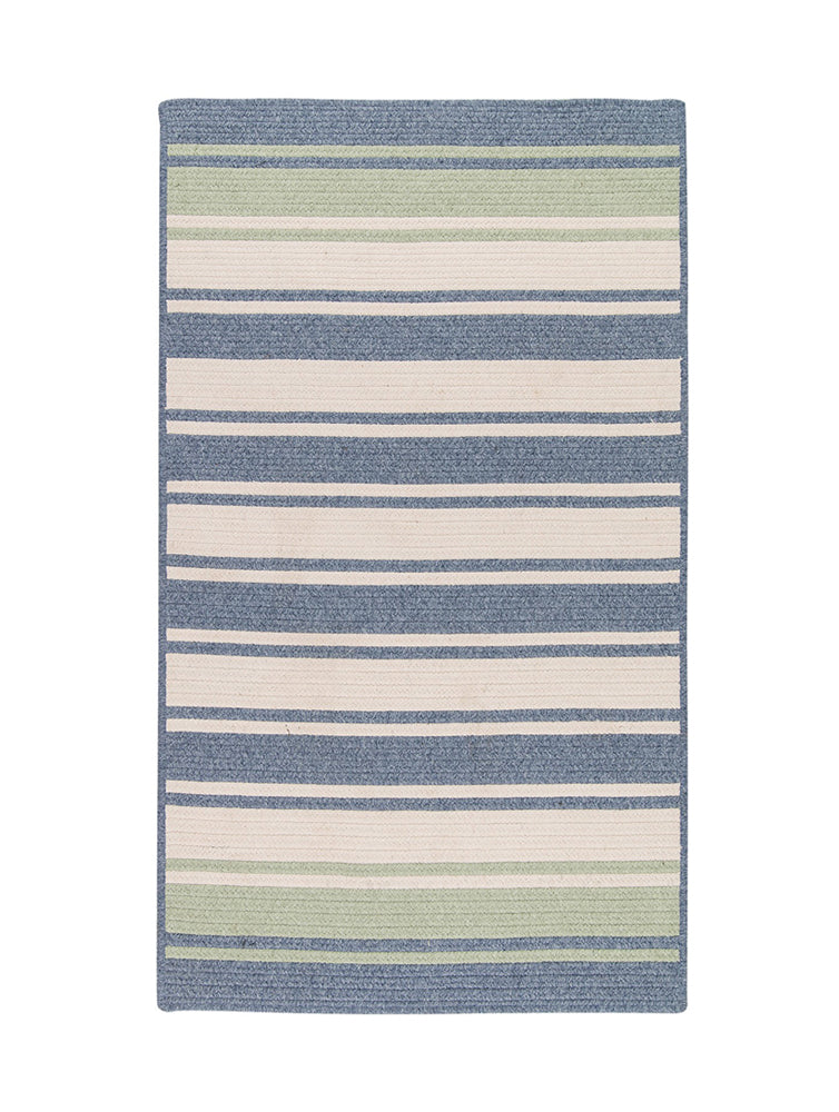 Colonial Mills Frazada Stripe Light Blue & Mint 8'x10' Rectangle Rug