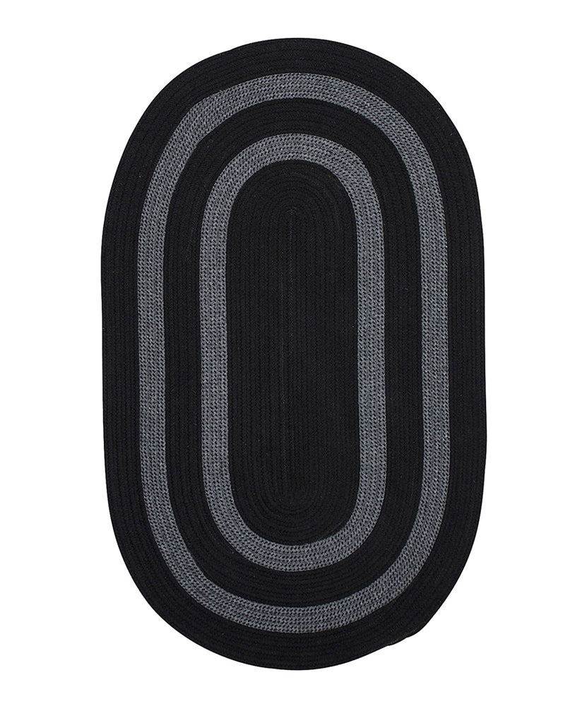 Colonial Mills Home Decor Graywood - Black 2'x12' Oval Rug
