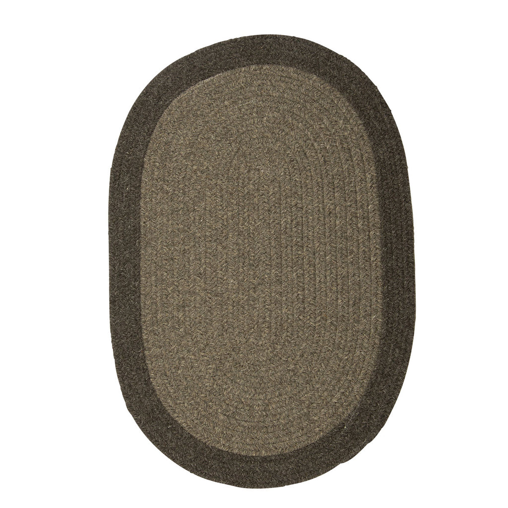 Colonial Mills Hudson Brown 2'x12' Oval Rug